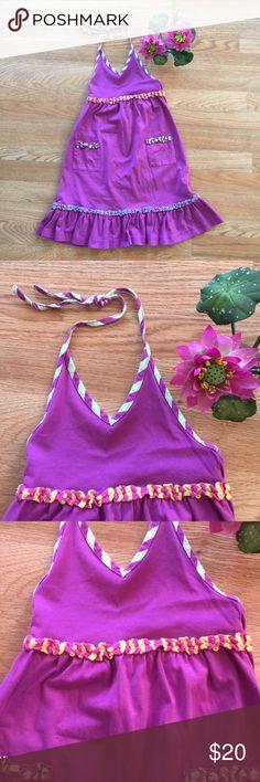 Hanna Andersson Purple Halter Dress Purple halter dress with adjustable straps Hanna Andersson Dresses Casual
