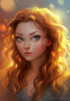 portrait by Elena Berezina on ArtStation.