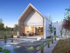 DOM.PL™ - Projekt domu DZW Z POMYSŁEM 2 CE - DOM DW2-02 - gotowy koszt budowy Architecture, Mini, Outdoor Decor, House, Home Decor, Modern Townhouse, Arquitetura, Decoration Home, Home