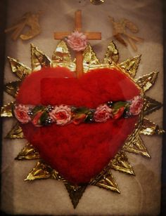 Immaculate Heart of Mary Shrine Shadow Box by FiveTimesBlessed, $125.00