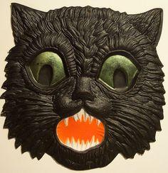 Vintage German Halloween Diecut Cat by riptheskull, via Flickr