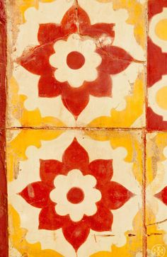 Red and Yellow Tiles ~ Morocco