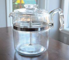 Magnifique percolateur vintage de Pyrex 9 tasses - Bodum/percolateur de Pyrex pour votre café du matin de la boutique 3rvintages sur Etsy