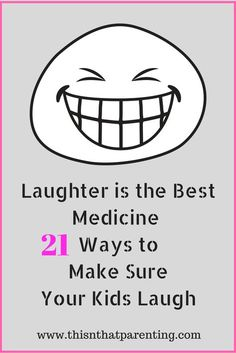 This article gives the science behind why it is important to get your kids laughing often, and it gives plenty of ideas on ways to create laughter! #parents #parenting #parenthood #momlife #laugh