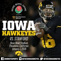 Iowa heading to its first Rose Bowl in 25 years. Congrats to Kirk Ferentz and the Hawkeyes on a tremendous season. More to come!