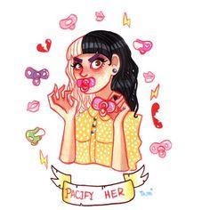 Pacify Her // Melanie Martinez // Fan Art Melanie Martinez Style, Sending Love And Light, My Love, Cry Baby, Music Stuff, Rock, Anime Manga, Disney Characters, Fictional Characters