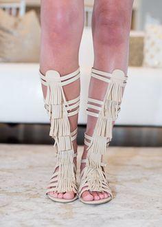 Online boutique. Best outfits. Legendary Gladiator Sandals Beige