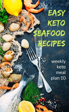 If you are looking to add more seafood to your diet or need a few recipes for Fish Fridays, this weekly keto meal plan is keto seafood recipes. All of these low carb recipes are very easy to make and there is a variety of seafood to choose from.