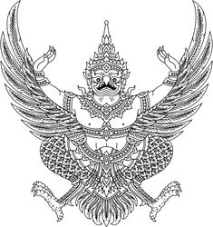File:Garuda Emblem of Thailand (Monochrome).svg