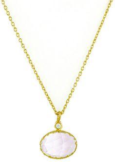 Rococo Lace Rose Quartz Bezel Pendant Necklace from @Layla Grayce #laylagrayce #wedding #jewelry
