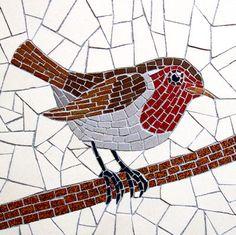 Robert Field  Rouge-gorge. Mosaic bird