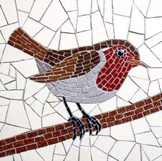Robert Field  Rouge-gorge. Mosaic bird