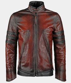 Antiqued Italian Leather Jacket red https   www.mr-styles.com 1435b0e4768
