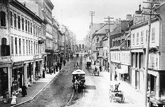 Ville de Québec - Tramway rue St-Jean avant 1898.