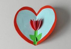 Een 3D hart met een bloem knutselen → Leuk voor kids Diy For Kids, Cool Kids, Crafts For Kids, Easy Crafts, Diy And Crafts, Paper Crafts, Laura Lee, Diy Presents, Blogger Themes