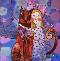 Художник Силивончик Анна Дмитриевна родилась в 1980 году в городе Гомеле. Анна Силивончик принадлежит к числу наиболее ярких индивидуальностей в среде молодых белорусских живописцев. Работая в необычайно самобытном авторском стиле, художник создает свой особый мир, свою собственную систему образов и значений, свое пространство сакрального.