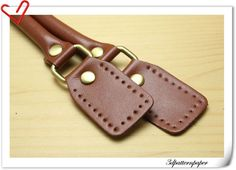 leather handles 23.5 inch a pair terracotta by 3Dpatternpaper