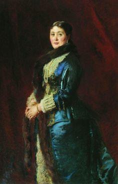 Konstantin Makovsky Portrait Of Princess M.Orlova-Davydova 1880