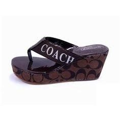 Coach Loralyn Logo Coffee Sandals CON