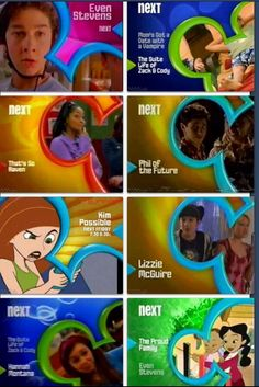 The old Disney channel...replace Hannah Montana with sister,sister or boy meets world