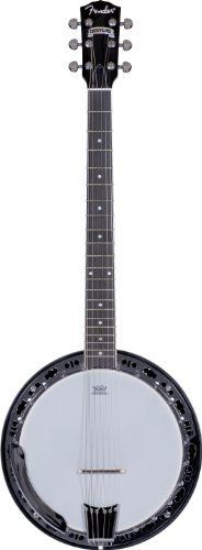 Fender Rustler 6-String Banjo by Fender. $438.57. Fender's new Rustler six-string closed-back banjo is perfect for guitarists who want to get perfectly sparkling banjo sound in a comfortably familiar six-string format. Features include a resonant closed-back mahogany body with an elegant three-color sunburst finish, 24-piece bracket, rolled-brass tone ring with chrome plating, mahogany neck with 22-fret rosewood fingerboard and distinctive Fender headstock shape, and die-cas...