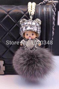 noir Jouet trousseau adorable c/âlin Strass mignon lapin pendentif en alliage porte-cl/és sac /à main sac /à main voiture charme porte-cl/é cadeau
