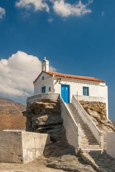 Church of Panagia Thalassini, Andros island, Greece - Travel Tips Greece Tours, Greece Travel, Macedonia, Albania, Andros Greece, Bulgaria, Costa, Greece Islands, Chapelle
