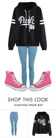 """Untitled #421"" by sydthekyd01 on Polyvore featuring Topshop, WithChic and Converse"