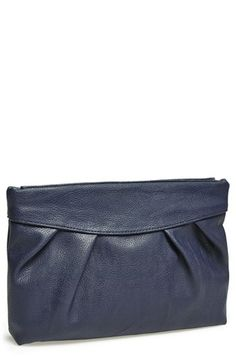 'Crushed' Hinged Faux Leather Clutch   @Nordstrom