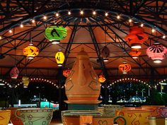 Disney - Mad Tea Party at Night