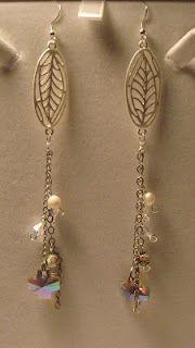 me made: leaf earrings