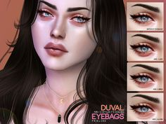 Duval Eyebags by Praline Sims for The Sims 4 Sims 4 Cc Eyes, Sims 4 Cc Skin, Sims Cc, Sims 4 Cc Makeup, Queen Makeup, Under Eye Bags, Sims 4 Clothing, Male Clothing, Happy Skin