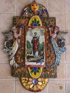 San Vicente Retablo  Mosaic / Collage
