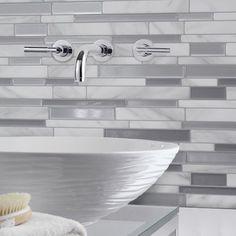 12u0027u0027 X 12u0027u0027 Glass Peel U0026 Stick Mosaic Tile In Pure White