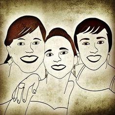 #amigas #ipad #desenho #design
