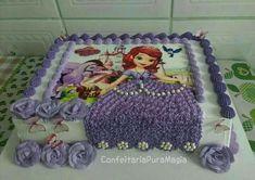 Sofia The First Cake, Sofia Cake, Bolo Barbie, Barbie Cake, Bolo Sofia, Cupcake Cakes, Cupcakes, Character Cakes, Disney Cakes