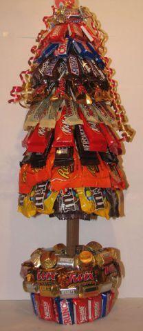 alternatives au sapin de noel arbre bonbons   16 alternatives au sapin de noel   vin sapin photo noel image bricolage bouteille arbre altern...