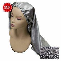 Long Silk Bonnet #sexy #lacilegacishops Silk Bonnet, Hair Bonnet, Silk Hair, Tiffany Blue, Ruby Red, Hair Extensions, Blush Pink, Your Hair, Hot Pink