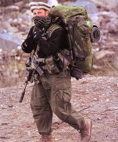 Special forces operator in Afghanistan. (2001 or 2002)