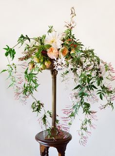 Whimsical floral centerpiece by Tulipina design, Photo by Christina McNeill