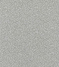 Keepsake Calico™ Cotton Fabric-Scrolling Vine Gray