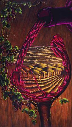 "Tuscan Vineyard ""The Harvest"" ~ Travis Knight"