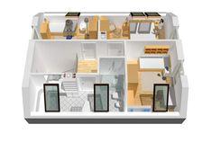 Projekt domu Lea (wersja A) - wizualizacja poddasza Bathroom Medicine Cabinet, Shelves, Storage, Furniture, Houses, Home Decor, Classic, Miniatures, Purse Storage