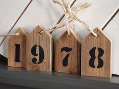 Cijferhuisjes, leuk met jaartal van geboorte!