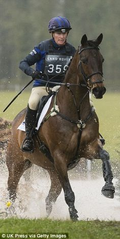 As her horse trotted, galloped and jumped over a log into a large puddle, she simplypulled tighter on the reins and showcased her horse-riding talent to the fullest