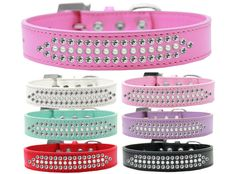 Ritz Pearl and Clear Crystal Dog Collar - DesignerAlleyPetBoutique