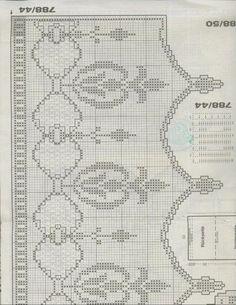 "Photo from album ""Burda Special on Yandex. Filet Crochet Charts, Crochet Borders, Crochet Diagram, Crochet Patterns, Thread Crochet, Love Crochet, Crochet Stitches, Crochet Hooks, Crochet Curtains"