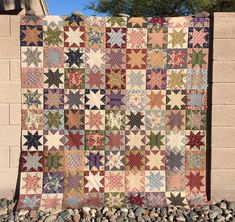 Way back in July of 2014, I visited Missouri Star Quilt Company for the first time. While there, I bought this FQ bundle of Shenandoah by Nancy Gere. I finally cut it up and started piecing sawtoot…