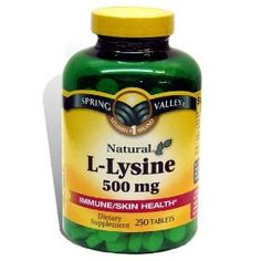 L-Lysine to prevent cold sores and acne.