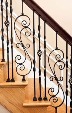 railing wrought trendy stairs case iron 38 38 Trendy Stairs Case Railing Wrought Iron 38 Trendy Stairs Case Railing Wrought IronYou can find Wrought iron decor and more on our website Staircase Railing Design, Interior Stair Railing, Balcony Railing Design, Iron Staircase Railing, Iron Handrails, Iron Railings, Railing Ideas, Bannister, Wrought Iron Stair Railing